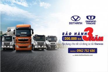 Daewoo tăng thời gian bảo hành xe tải đến 3 năm hoặc 200.000km
