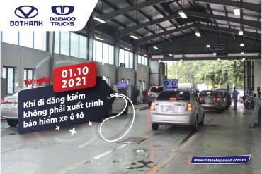 Từ 1/10, đi đăng kiểm không phải xuất trình bảo hiểm xe ô tô