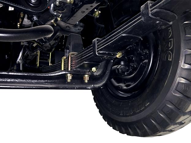 Hệ thống treo – cầu xe Linh kiện được nhập khẩu đồng bộ. Thiết kế vững chắc, có thể chạy trên mọi cung đường