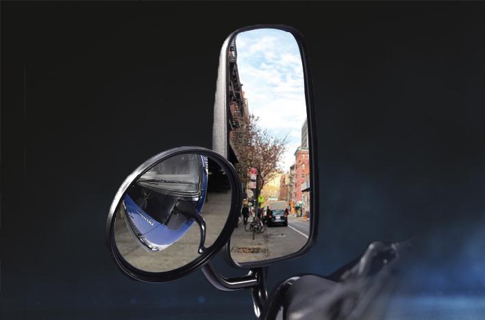 Gương chiếu hậu tích hợp thêm gương cầu
