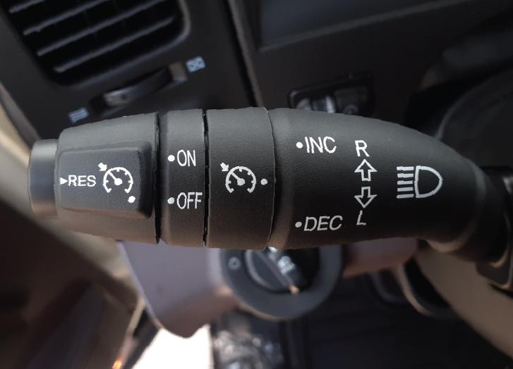 Chế độ Cruise Control hỗ trợ tài xế điều khiển ga tự động (theo mức tốc độ đã cài) sử dụng trên đường trường hoặc cao tốc và tăng giảm tuỳ chỉnh