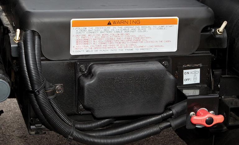 Bình ắc quy và công tắc ngắt điện ắc quy (lựa chọn thêm)