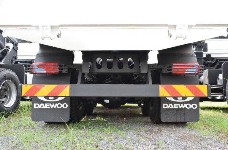 Đuôi xe được trang bị khung bảo vệ chắc chắn + Cảng sau được trang bị 2 tấm phản quang